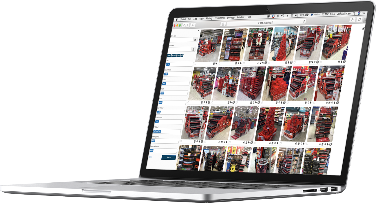 Snapshop's features for brand and wholesalers managers